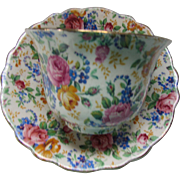 Chintz James Kent Rosalynde Made in England Cup and Saucer