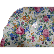 James Kent Chintz Dessert Plate Rosalynde Made in England Fenton