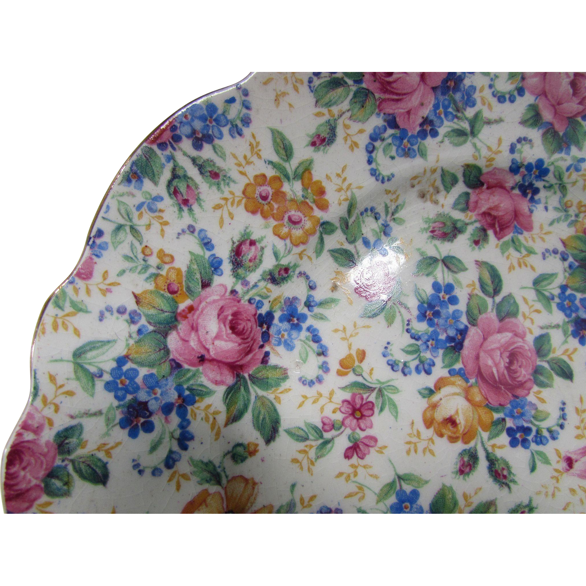 James Kent Chintz Dessert Plates Rosalynde Made in England Fenton