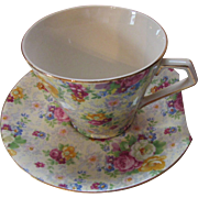 Chintz BCM Lord Nelson Ware Rose Time Cup and Saucer Made in England