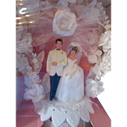 Wilton Wedding Cake Topper in Original Box The Loving Touch Pink and White