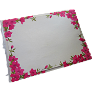 Hallmark Paper Reuseable Place Mats Plan a Party in Bright Fuchsia Floral Design