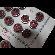 Paris Depose Metal Buttons on Original Card