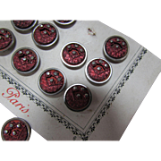 Paris Depose Metal Buttons on Original Card