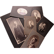 Victorian Edwardian Era Photographic Portraits of Handsome Men