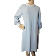 1960 Style A-Line Cocktail Dress in Robin Egg Blue and White Sequins