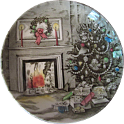 Four Johnson Brothers Holiday China Coasters or Butter Pats Christmas Winter Scene Made in England