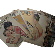 People's Home Journal Magazine Five June Issues 1917, 1918, 1920's Cream of Wheat and Colgate Ads