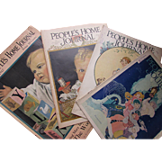 Four December Issues People's Home Journal Christmas 1917, 1925, 1926, 1927 Cream of Wheat Ad