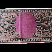 Plush Velvet Rug Design Doily Mat or Dollhouse Rug