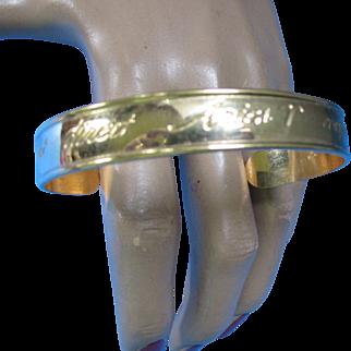 Avon Aries Zodiac Bangle Bracelet in Gold Tone Independent Direct Confident Optimistic 1979