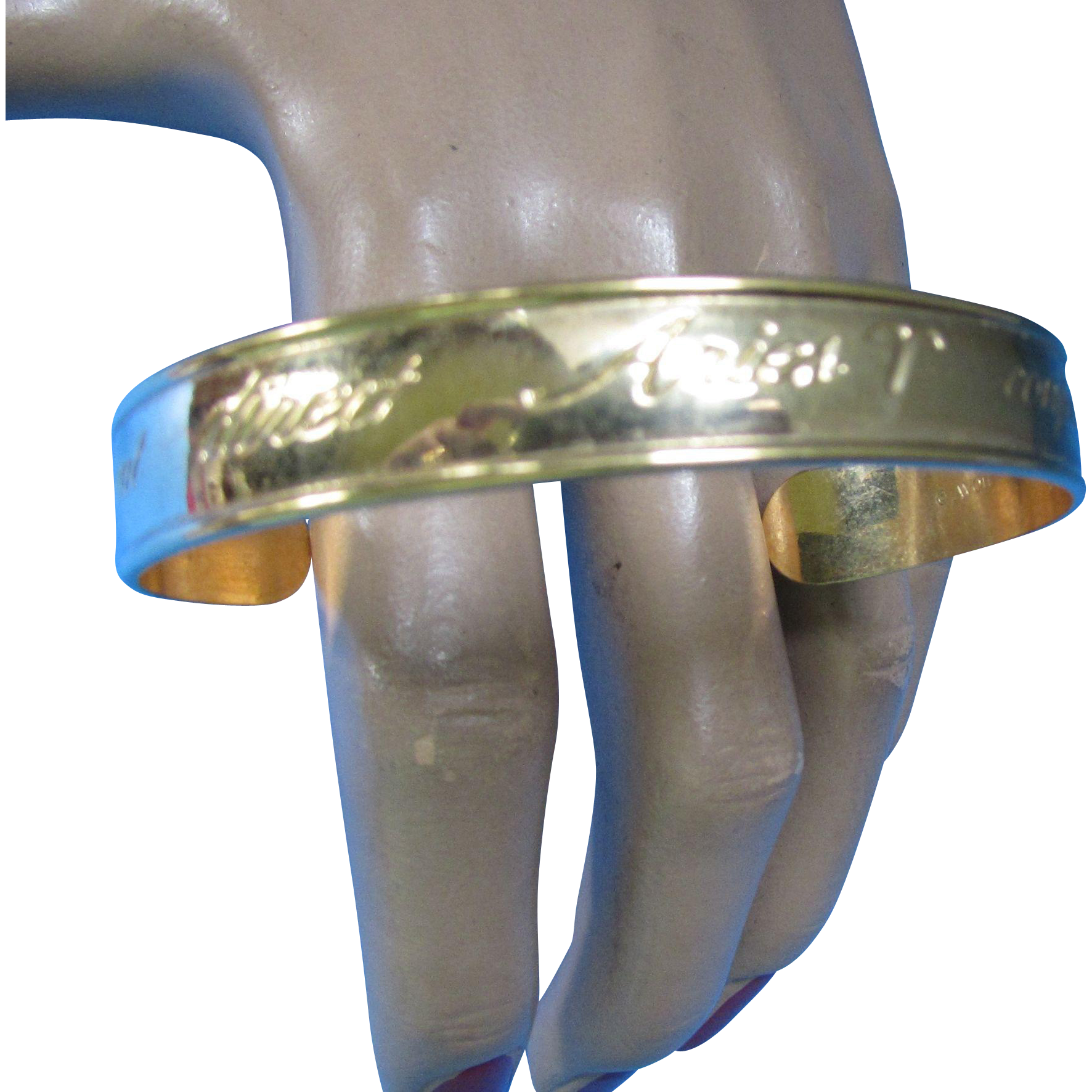 Avon Aries Zodiac Bangle Bracelet in Gold Tone Independent Direct Confident Optimistic 1979