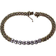 Vintage Estate 1960's Wedding Day Birthstone Anniversary Diamond 14K Yellow/White Gold Bracelet