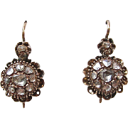 Darling Downton Abbey Rose Cut/Old Mine Cut Victorian Antique Earrings