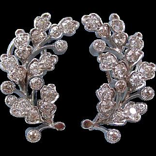 Vintage Estate 1950's Old European Cut VS Diamond Wedding Birthstone Anniversary Earrings 14K
