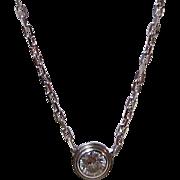 Vintage Estate Cartier Diamond Necklace 18K