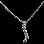 Diamond Vintage Journey Wedding Birthstone Anniversary Necklace 14K