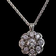 1960's Estate Diamond Wedding Birthstone Anniversary Pendant 14K