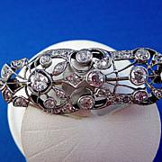 Breathtaking 2.63 Old Mine Cut Diamond Vintage Brooch/Pendant