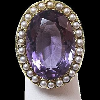 Antique Victorian 1890's Amethyst Engagement Birthstone Wedding Ring