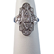 Art Deco Vintage 1920's Diamond Engagement Wedding Day Birthstone Anniversary Ring Platinum
