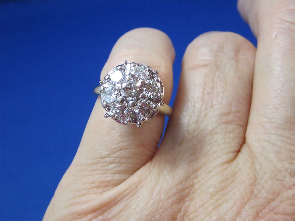 Vintage Diamond Cluster Engagement Rings