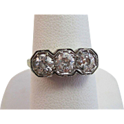 Vintage Estate Art Deco Old European Cut Diamond Engagement/Anniversary Ring 14K