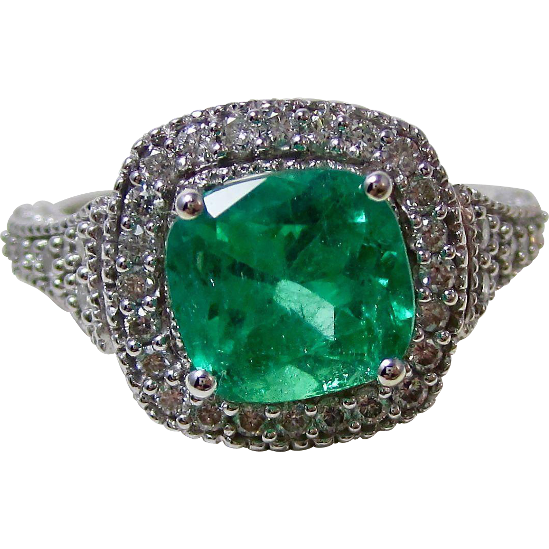 Columbian Emerald Amp Diamond Estate Engagement Wedding