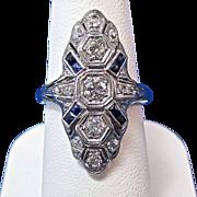 Antique Edwardian 1905 Diamond  Engagement Wedding Day Birthstone Ring Platinum