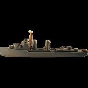 Large Folk Art Battleship Model