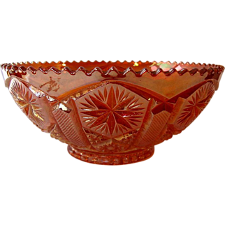 Orange Carnival Glass Bowl, c1910