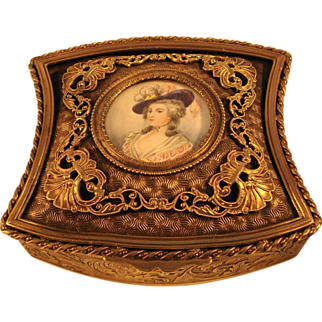 French Bronze Dore Box, c1880