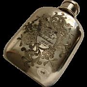 Art Nouveau Silver Plated Flask, c1898