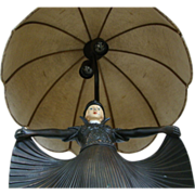 Art Deco Bronze Lamp