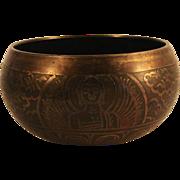 Old Tibetan Buddhist Chakra Bowl