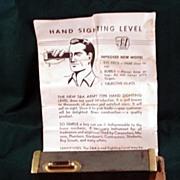 Army Hand Sighting Locator's Level