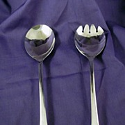 Sheffield Silver Plated Salad Fork and Spoon