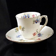 Floral Demitasse Cup and Saucer
