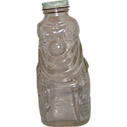 Pre 1950's Grapette CLEAR Drink Bottle - Clown