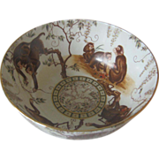 Chinese Decorative Bowl With Monkeys -
