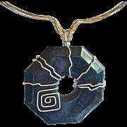 ARTISAN Moderist Hexagon shaped Dumorticrite Pendant Necklace
