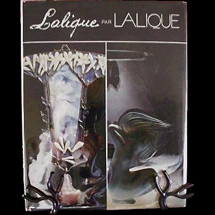 """Monograph Book """"Lalique par Lalique"""" Marc & Jean Claude Lalique Signed"""