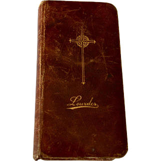 Antique Lourdes France Roman Catholic Missel 1902 Leather Binding