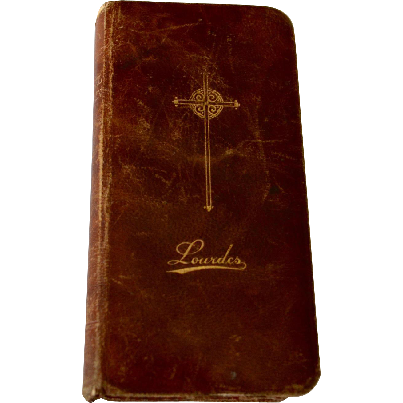 Antique Lourdes France Roman Catholic Missel 1902 Leather Binding