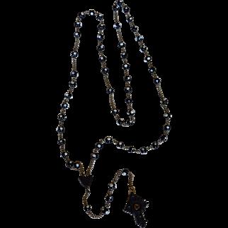Stanhope Sainte Philomena French Glass Rosary Village D' Ars