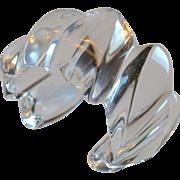 Sculptural Clear Lucite Asymmetrical Swirl Cuff Bracelet