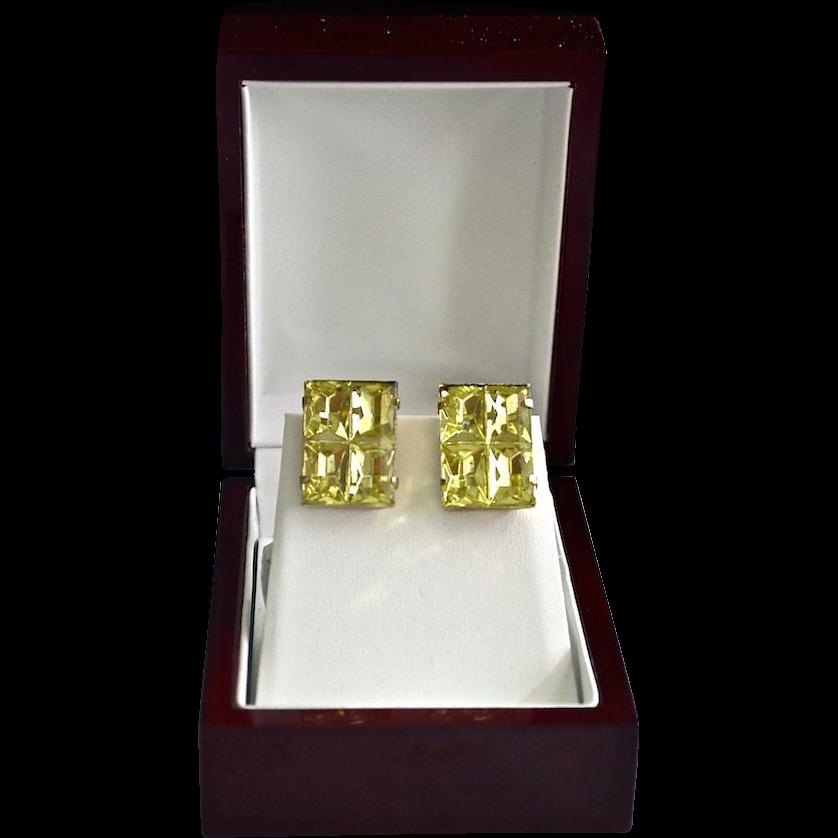Glamorous 60's Magic Cube / Prism Earrings