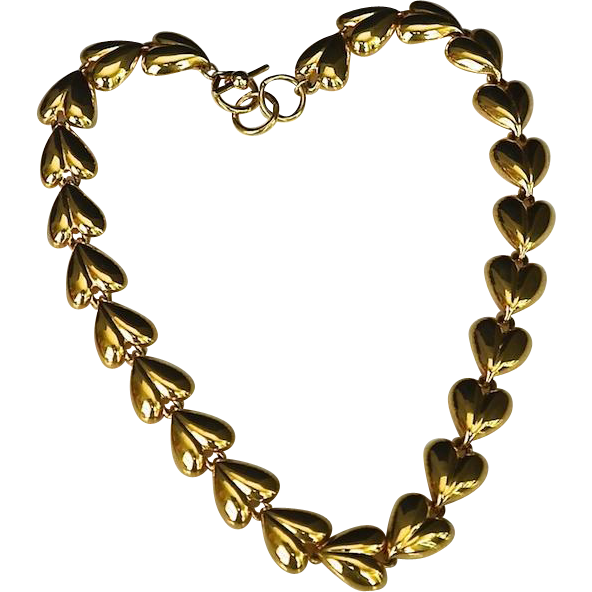Vintage Anne Klein 10K Gold Plate Link Necklace