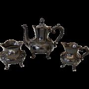 Smith, Hall, Miller & Co Quadruple Plate Silver Victorian Tea Set