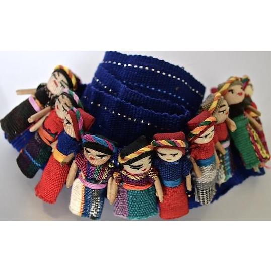Mayan Folk Art Handmade Guatemalan Worry Cloth Dolls